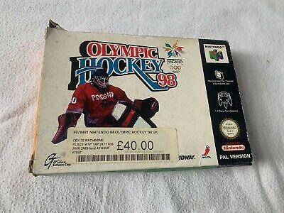 OLYMPIC HOCKEY 98 -N64-Nintendo-Pal UK-Game, Box, Manual-FREE P&P-*Rare