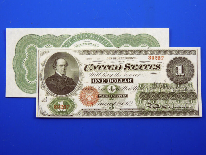 Reproduction $1 1862 LT US Paper Money Currency Copy
