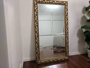 Golden Gilded Wall/Leaner Mirror Indooroopilly Brisbane South West Preview