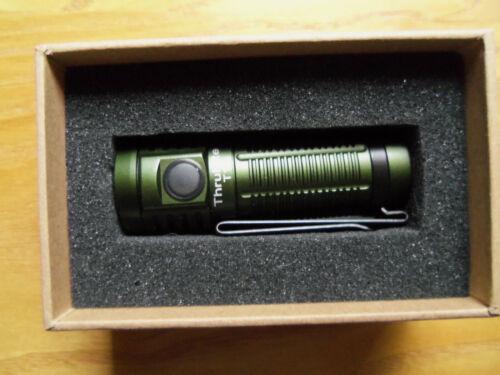 ThruNite T1 1500 Lumen Compact Rechargeable EDC Flashlight Dark Green