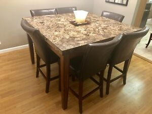 Marble top table for 8!