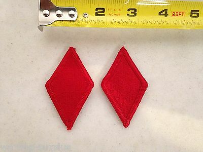 Lot of 2 U.S. ARMY 5th INFANTRY DIVISION Patches Red Diamond Class A Uniform