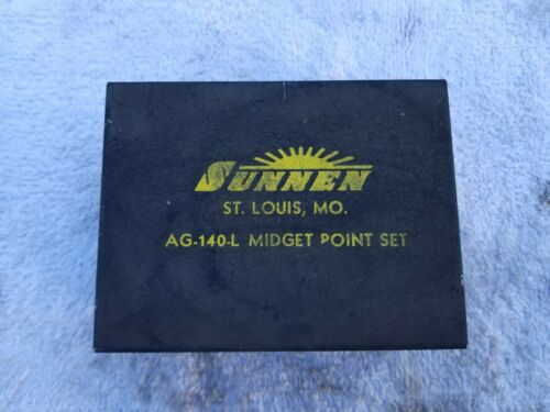 "Sunnen AG-140L  Midget  Point Set for AG-300  Gauges (.375"" - .750"") Late AG300"