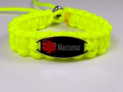 l Paracord Armband-Lasergraviert-8 Charms-Verstellbar- (Paracord Armband Charms)