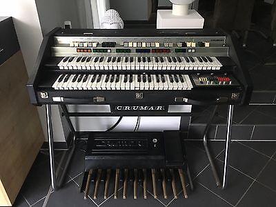 Crumar Organizer 2 OR/2 Vintage Transistor Organ RARE w/ Pedal and stand 1980´s