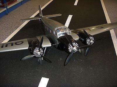 RC Flugmodell JU 52 flugfertig aufgebaut m. Servos Motoren, Regler
