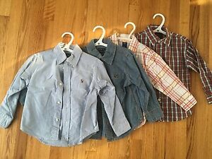 3T long sleeve button up shirts