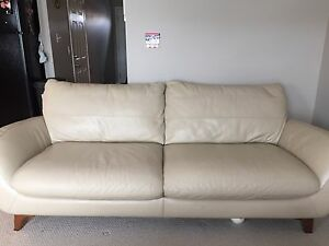 Leather couch & chaise