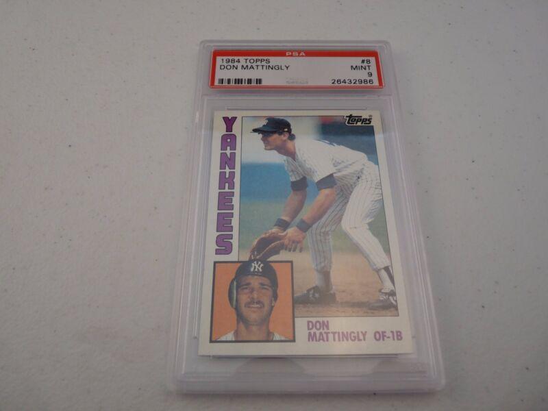 Don Mattingly 1984 Topps #480 Baseball Card PSA Graded Slabbed Mint 9