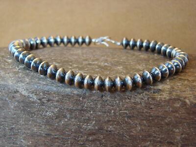 Native Indian Hand Strung Silver Desert Pearl Bracelet HV088
