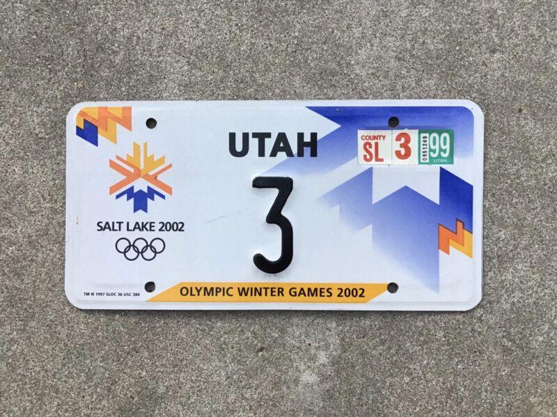 2002 - UTAH - OLYMPIC WINTER GAMES - LICENSE PLATE - SALT LAKE CITY