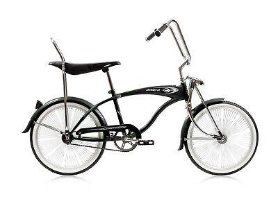 Old School Lowrider Bicycle Black Banana Seat W// Eyelets Chopper Bike C R STORE