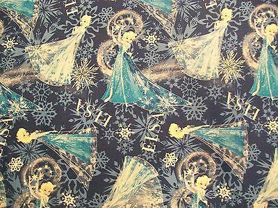 Elsa The Snow Queen (Disney Frozen ELSA SNOW QUEEN Toss Fabric - by the)