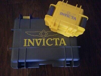 Invicta 8-slot Collectors Impact Dive Watch Case Box GREY / YELLOW.