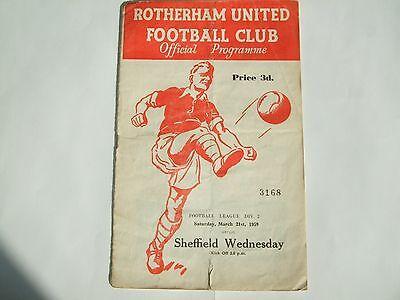 Rotherham United v Sheffield Wednesday - Division 2 - 21st Mar 1959