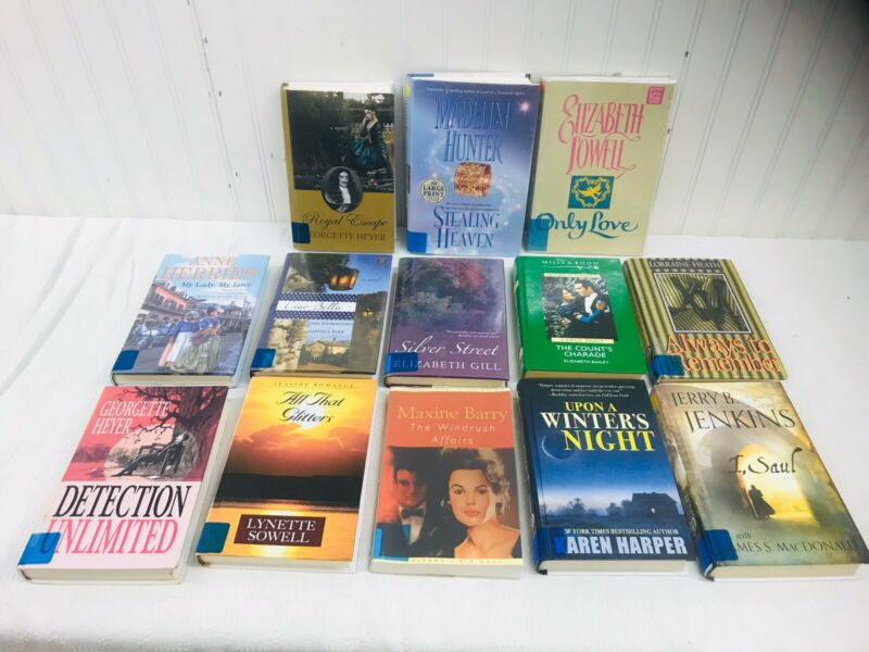 LARGE PRINT Historical Romance Hardcover Ex-Library / Lot of 13