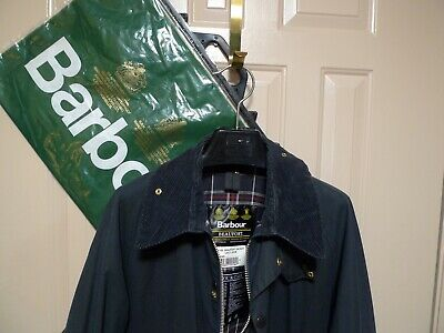 BARBOUR -A155 BEAUFORT WAX COTTON JACKET- NAVY- MADE IN ENGLAND- SIZE 44