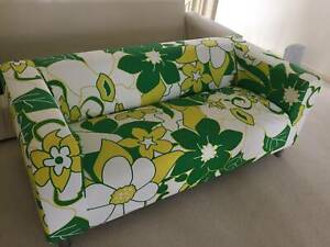 KLIPPAN 2-seat Fabric Sofa with Floral pattern cover