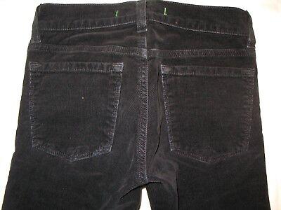 J Brand Eng Gerade Schwarz Cord Jeans Kleine Mädchen Gr. UK 8 Stretch Kord Kleine Mädchen Jeans Schwarz