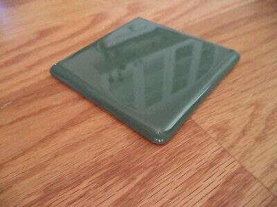 One Piece - Forest Green Ceramic wall Tile 1970 ?? vintage4