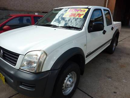 2004 holden rodeo dual cab automatic low kilometres
