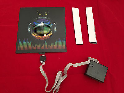 sound Activated DJ LED Flashing Light UP DISCO BALL PANEL W SENSOR FOR T SHIRT - Disco Ball Costumes