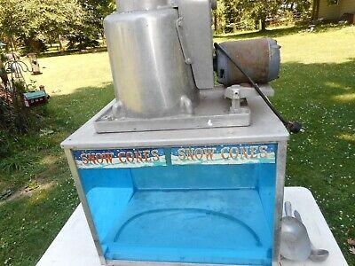 Snow Cone Machine Echols Model 2 Huge Vintage Waccessories Vg Used Condition