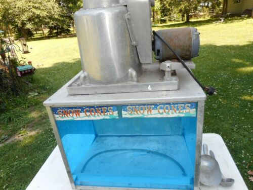Snow Cone Machine Echols Model #2 HUGE Vintage w/Accessories VG Used Condition