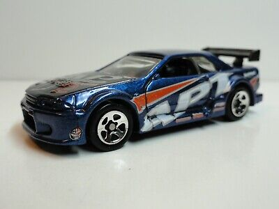 2002 Hot Wheels First Editions #7 Nissan Skyline GT-R R32 (Blue) – LOOSE