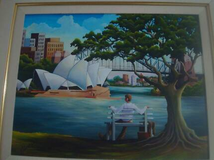 "Max Mannix original ""Under the Moreton Bay Fig"". Port Macquarie 2444 Port Macquarie City Preview"