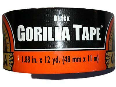 Gorilla Tape 1.88 X 12 Yards In Black