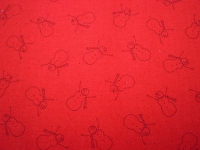 MODA - Winter Wonderland - Red Santas.  100% cotton.