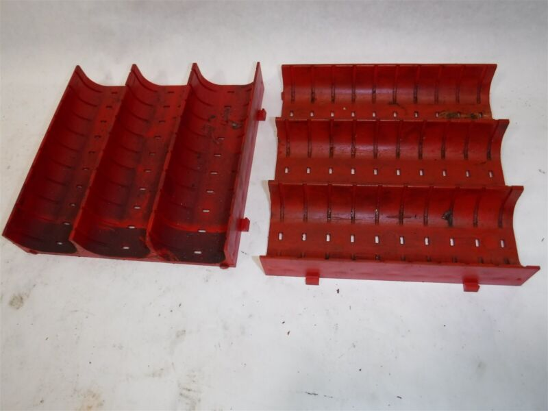 """Used CHEAP Lot 63 LISTA X1645 Slotted Groove Trays Divider 6"""" x 6"""" x 1"""" B"""