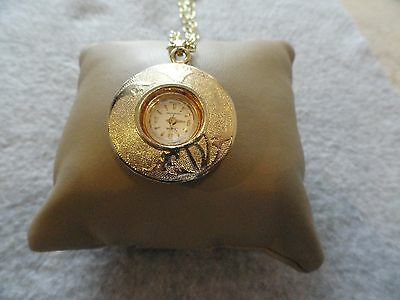 Vintage Wind Up Sheffield Swiss Made Necklace Pendant Watch