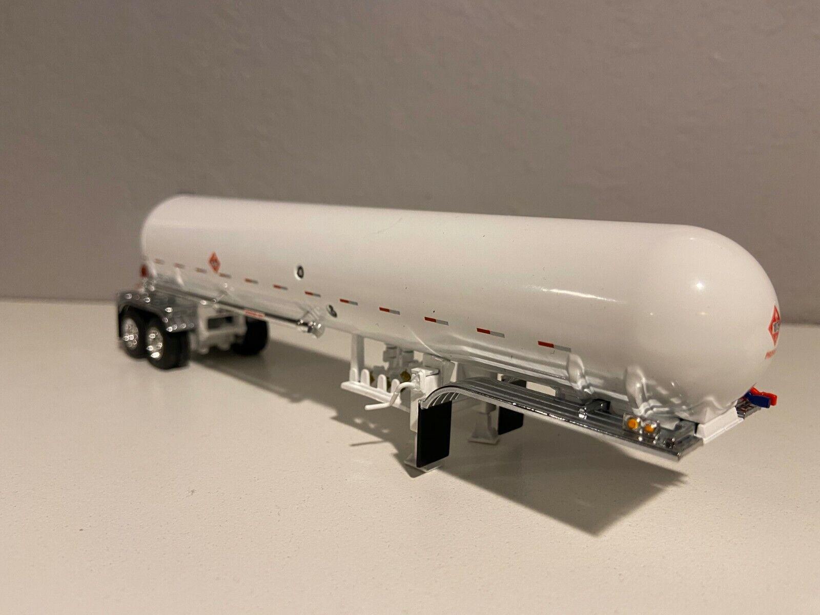 DCP 1/64 All White Propane Tanker Trailer W/ Chrome Fenders