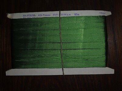 (0,40€/m) grüne Tresse/Band/Borte, Höhe ca. 1,5cm 50m auf einer Pappe KS-Tresse