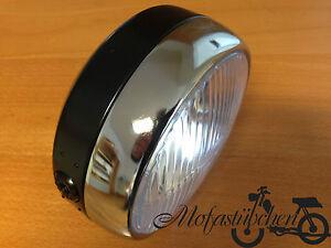NEUER Scheinwerfer Lampe rund für Hercules Prima 2 3 4 5S Mofa und Optima Moped