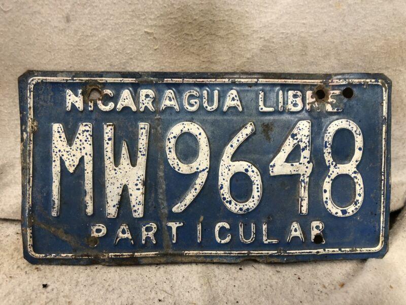 Vintage Nicaragua License Plate
