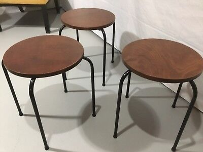 """Set 3 Tony Paul Tempo Manner Stacking Tables 18 """" Tall (Reconditioned)"""