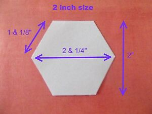 100 Hexagon Templates For Patchwork Paper Perfect For