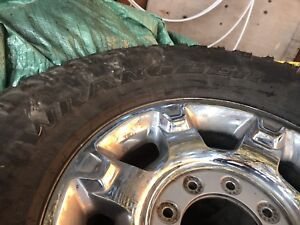 Set of LT325/65R18 Wrangler tires  mounted and balanced