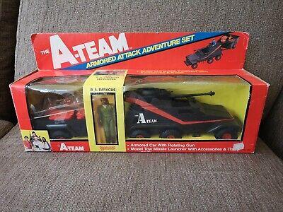 Galoob 1980s A- TEAM Armoured Attack Playset, MR T, BA BARACUS, VINTAGE, RETRO