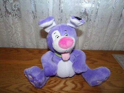 "9"" 2014 NUBY TICKLE TOES PURPLE BABY PUPPY DOG STUFFED ANIMAL PLUSH TOY CLEAN"