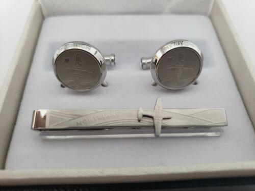 Montblanc Cufflinks & Tie Bar Set Cuff Links & Tie Clasp New with Box NEW!