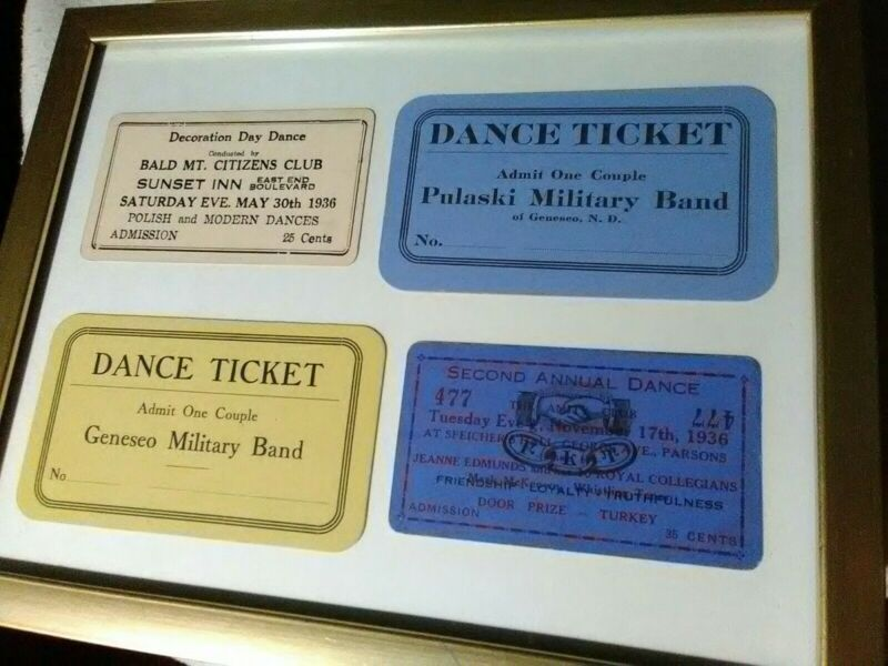 4Rare Vintage 1936 Dance Tickets Cards Wilkes Barre PA 2nd Annual The Amity Club