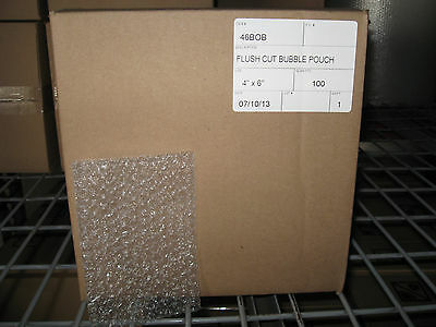 """100 - 4"""" X 6"""" Clear Flush Cut Small Bubble Pouch Mailer Bag - SHIPS FREE!"""