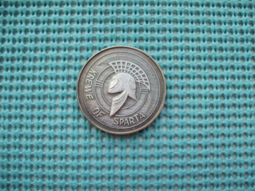 1976 Krewe of SPARTA oxidized silver Mardi Gras Doubloons