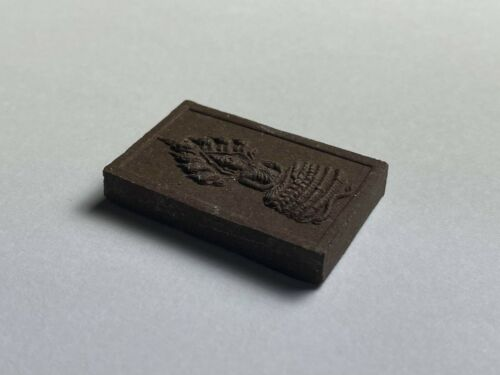 Raised Vintage Buddha Amulet from Thailand with Thai Inscription