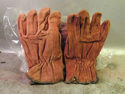 Lot Of 2 Pairs 2 Lh2 Rh New Suede Leather Working Gloves Men Size Large
