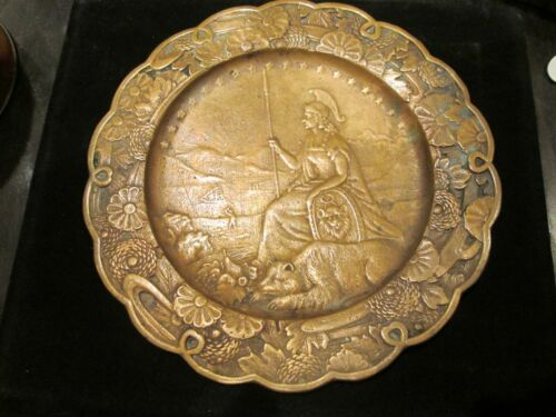 ANTIQUE BRONZE  GREAT SEAL OF THE STATE OF CALIFORNIA PLAQUE PLATE